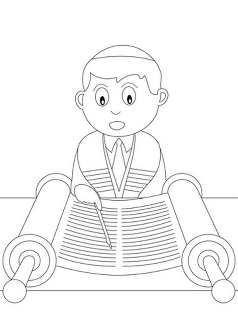 jewish coloring pages  kids simchat torah family