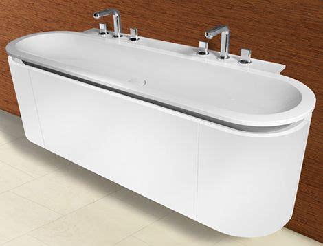 rounded vanity  burgbad cabinet sink shape