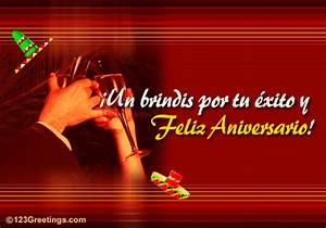 a spanish anniversary card free happy anniversary ecards With wedding cards messages in spanish