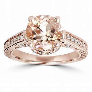 morganite diamond vintage engagement ring 2 carat With k jewelers wedding rings