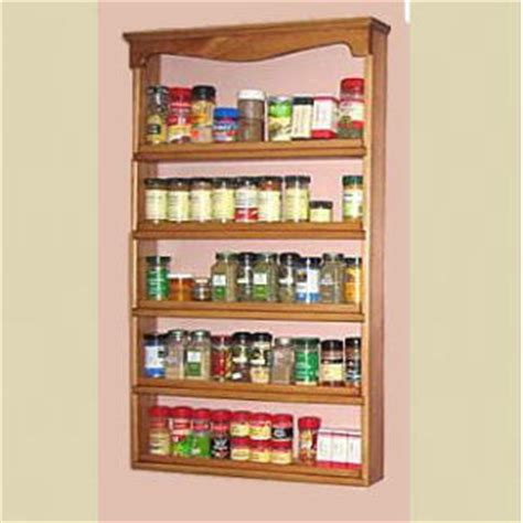 Spice Rack Spices Included by Spice Rack Quot Americana Gourmet Quot Wall Mounted Spice