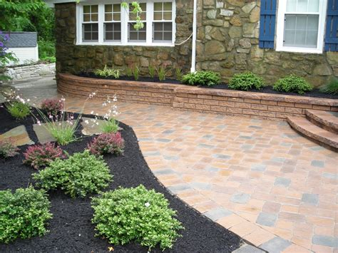 landscaping ideas pavers paving ideas for small back gardens garden design