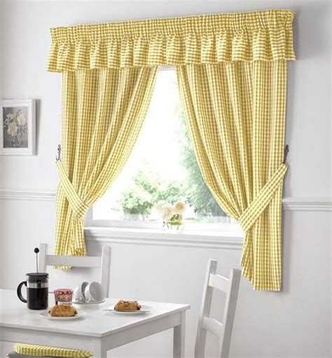 country curtains for kitchen country kitchen gingham curtain pair window drapes dining 6734