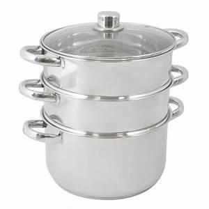 Cuit Vapeur Inox : cuit vapeur inox 3 niveaux achat vente faitout ~ Melissatoandfro.com Idées de Décoration