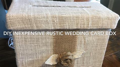 diy 4 rustic country wedding card box tutorial 2017 youtube