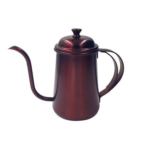 kettle tea pour coffee pot stainless steel gooseneck hand drip 650ml kettles