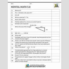 Mental Math 5th Grade