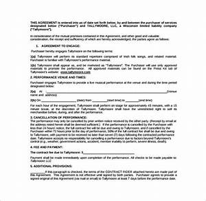 Sample Remodeling Contract Performance Contract Template 11 Download Free