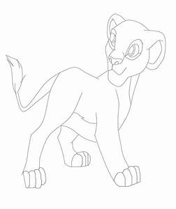 Nala Lion King Character Coloring Page