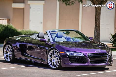 gallery purple audi  spyder  hre wheels