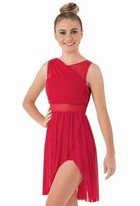 Dance Costume Large Child Red Dress Lyrical Contemporary ...