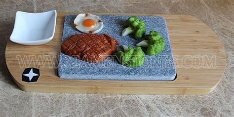 lava rock cooking bbq set basalt steak grill plate rock cooking 3683
