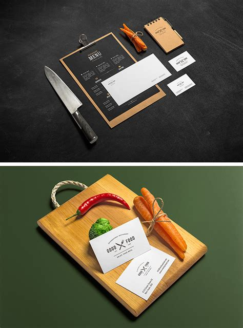 Chalkboards are so popular amongst restaurants. 15 Free Branding Mockups PSD with Stationery Items ...