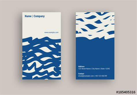 business card layout  wavy  design elements buy