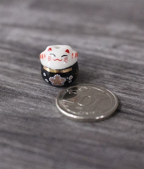 am駭agement mini cuisine mini fortune cat porcelain figurines black ecoponics