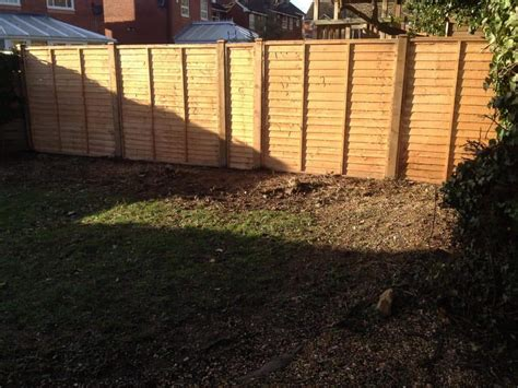 New Wooden Fence Installed By Tidy Gardens. Fencing In