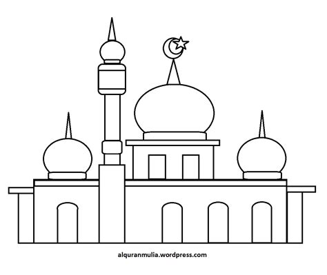 pin mosque coloring pictures  pinterest