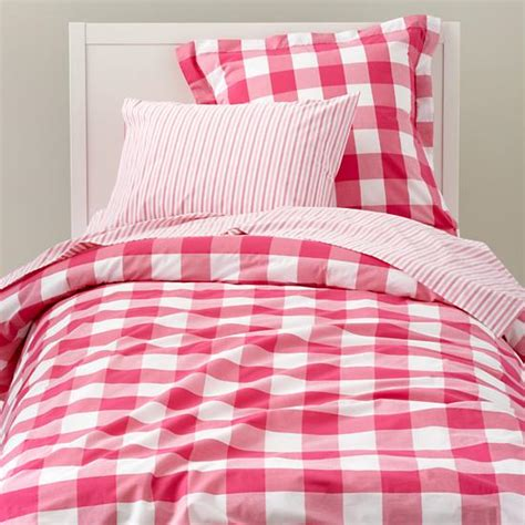 copy cat chic land of nod breezy gingham bedding