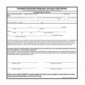 Sample boat bill of sale form 15 free documents in pdf doc for Trailer bill of sale ga