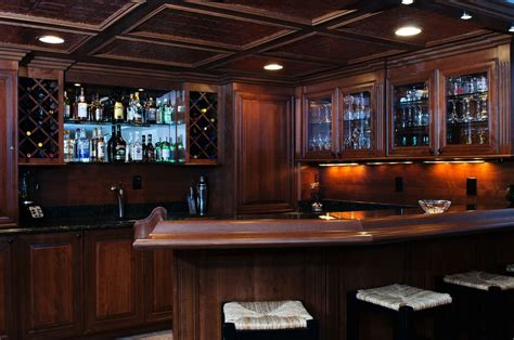 Basement Bar Furniture by Crafted Basement Bar By Custom Wood Creations