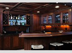 Hand Crafted Basement Bar by Custom Wood Creations