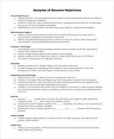 What Would Be A Great Objective For A Resume by Sle Resume Objective 8 Exles In Pdf Word