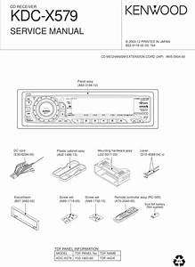 Kenwood Cd Receiver Kdc-x579 Service Manual Car