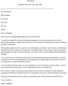 Marketing Manager Cover Letter Example icover