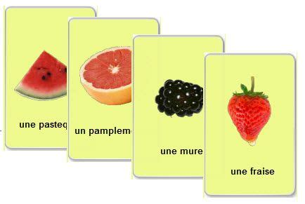 Httpwwwlearnfrenchlabcom Free Printable Flash Cards To Learn French Fruits Vocabulary