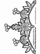 Snowflake Coloring Crown Pages Fairies Fairy Elsa Crowns Clipart Pheemcfaddell Craft Cartoon Queen Snow Frozen Christmas Halloween Cliparts Printable Crafts sketch template