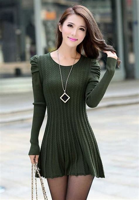 Sweater Dresses Ideas for Modern Ladies u2013 Designers Outfits Collection