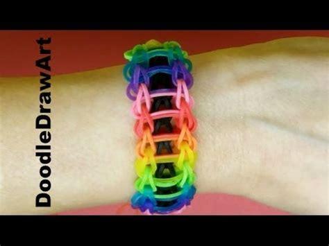 craft rainbow loom rainbow ladder bracelet tutorial