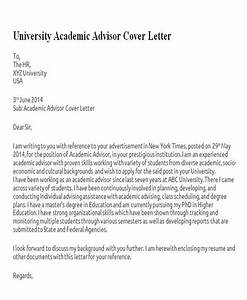 kent university cover letter - 6 sample academic advisor cover letters sample templates