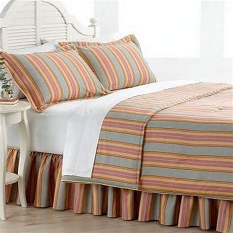 ralph bed skirts ralph rhys striped king bedskirt gray orange