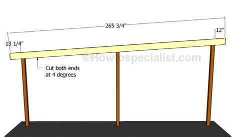 Wir sind seit vielen jahren einer der größten experten für carports. Flat roof double carport plans | HowToSpecialist - How to Build, Step by Step DIY Plans