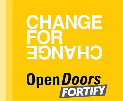 open doors usa change for change still changing