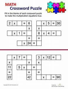 Multiplication Crossword | Multiplication, Worksheets and Math