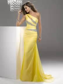 chiffon bridesmaid dresses 100 free shipping 2014 yellow prom dresses mermaid chiffon one shoulder new design 100