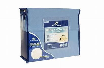 Serta Sheets Sheet Perfect Sleeper Navy Microfiber