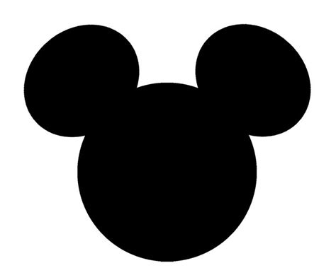Mickey Mouse Head Outline Clip Art (64
