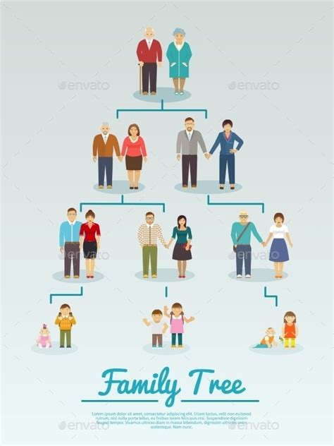 family tree templates   excel psd