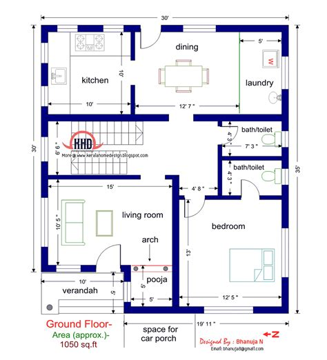 floor plan  elevation   sqfeet villa kerala