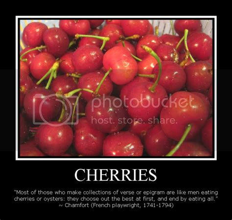 food quotes cherries cooked   heart