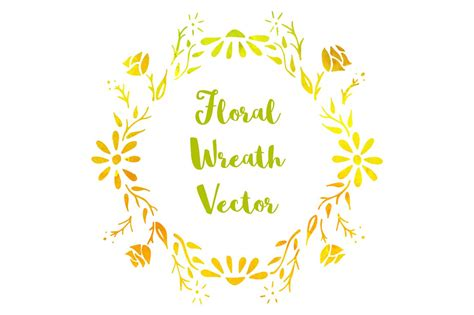 hand drawn floral wreath illustrations creative market