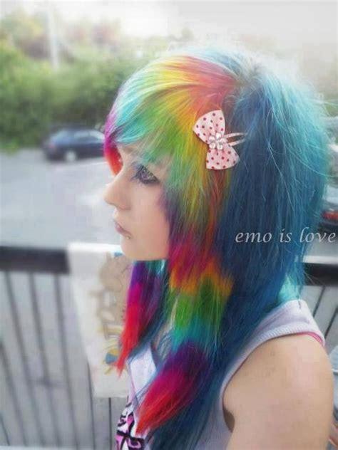 Scene Rainbow Hair Emo Punk Girl Hot Cute Scene Girls