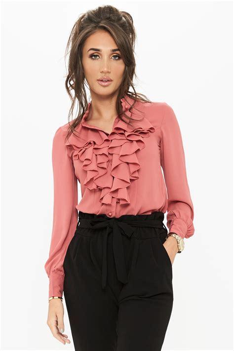 ruffle pleated blouse megan mckenna ruffle blouse