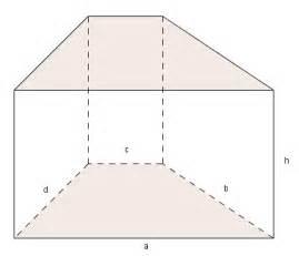 prisma grundfläche prisma mit trapezförmiger grundfläche