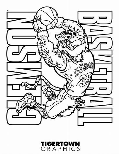 Coloring Football Clemson Sheets Cowboys Dallas Excelent