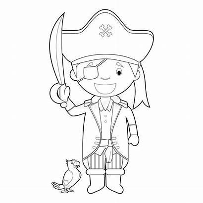 Coloring Cartoon Easy Pirate Vecteur Coloriage Corsaire