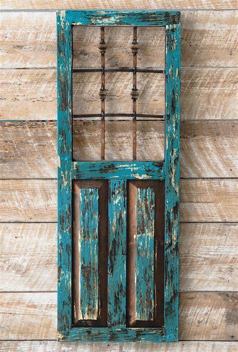 Turquoise Durango Door Wall Hanging